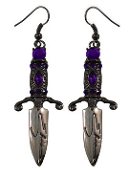 EARRING - ELVIRA DAGGER EARRING RED