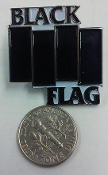 BLACK FLAG - LOGO ENAMEL PIN BADGE