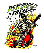 VINCE RAY STICKER - PSYCHOBILLY FREAKOUT STICKER