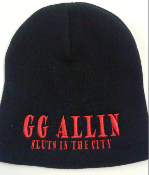 GG ALLIN - SLUTS IN THE CITY BEANIE