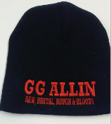 GG ALLIN - RAW BRUTAL ROUGH & BLOODY BEANIE