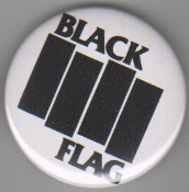BLACK FLAG - LOGO BUTTON / BOTTLE OPENER / KEY CHAIN / MAGNET