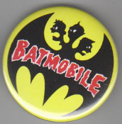BATMOBILE - LOGO BUTTON / BOTTLE OPENER / KEY CHAIN / MAGNET
