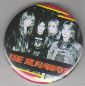 RUNAWAYS - BAND PICTURE BUTTON PIN / BOTTLE OPENER / KEY CHAIN