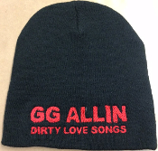 GG ALLIN - DIRTY LOVE SONGS BEANIE