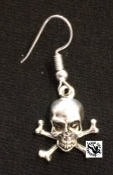 EARRING - SMALL CROSS BONES WITH SKULL