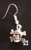EARRING - SMALL CROSS BONES WITH SKULL # 2