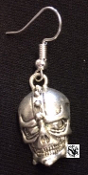 EARRING - SKULL WITH HELMET