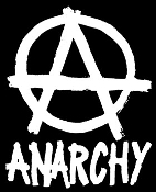 "WOVEN PATCH - ANARCHY WITH ""A"""