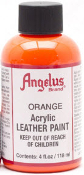 ORANGE ACRYLIC LEATHER PAINT