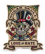 VINCE RAY STICKER - SUGAR SKULL STICKER