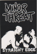 MINOR THREAT - STRAIGHT EDGE STICKER