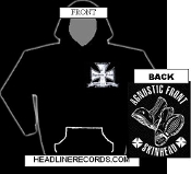 AGNOSTIC FRONT - SKINHEAD HOODED SWEATSHIRT