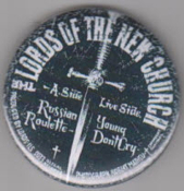 LORDS OF THE NEW CHURCH - RUSSIAN ROULETTE BUTTON / BOTTLE OPENE