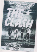 CLASH - LONDON CALLING GERMANY CANVAS ART