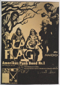 BLACK FLAG - FLYER CANVAS ART