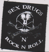 "PATCH - MARC VACHON ""SKULL SEX DRUGS & R'N'R"" PATCH"