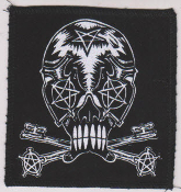 "PATCH - MARC VACHON ""SKULL WITH CROSS KEYS"" PATCH"