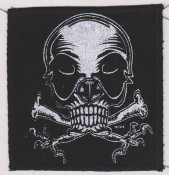 "PATCH - MARC VACHON ""SKULL WITH CROSS CLAWS"" PATCH"