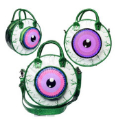 BAG - EYEBALL BAG GREEN GLITTER