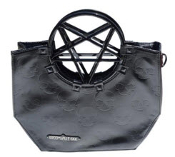 PURSE HANDLE BAG - PENTAGRAM BLACK