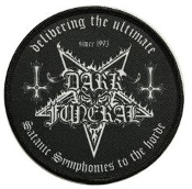 DARK FUNERAL - DELIVERING THE ULTIMATE SATANIC EMBROIDERED PATCH