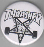 BIG BUTTON - THRASHER LOGO BUTTON / BOTTLE OPENER / KEY CHAIN /