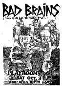 BAD BRAINS - AT THE PLAYROOM POSTER