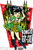 VINCE RAY STICKER - BONGO BEAT GIRL STICKER