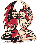 VINCE RAY STICKER - ANGEL TWINS STICKER