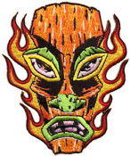 EMBROIDERED PATCH - FORBES FLAMMING TIKI