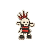 EMBROIDERED PATCH - SKULLINGTON PUNK