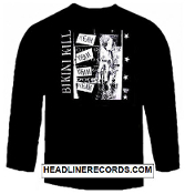 BIKINI KILL - YEAH YEAH YEAH LONG SLEEVE TEE SHIRT