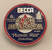 COCK SPARRER - RUNNIN RIOT ENAMEL PIN BADGE