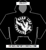 HEADLINE RECORDS CLASSIC LOGO HOODED SWEAT SHIRT