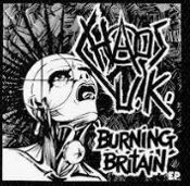 CHAOS UK - BURNING BRITAIN PATCH