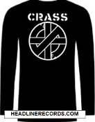 CRASS - LOGO LONG SLEEVE TEE SHIRT