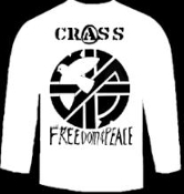 CRASS - FREEDOM & PEACE LONG SLEEVE TEE SHIRT