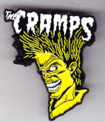 CRAMPS - BAD MUSIC FOR BAD PEOPLE ENAMEL PIN BADGE