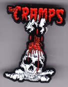 CRAMPS - VOODOO SKULL ENAMEL PIN BADGE