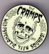 CRAMPS - WILD PSYCHOTIC ENAMEL PIN BADGE