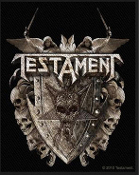 TESTAMENT - SHIELD EMBROIDERED PATCH