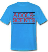 ADOLESCENTS - LOGO (BLUE SHIRT) TEE SHIRT