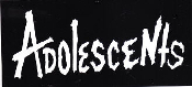 ADOLESCENTS - ADOLESCENTS (CLASSIC LETTERS) STICKER