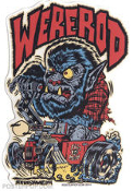 BEN VON STRAWN STICKER - WEREROD STICKER