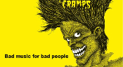 CRAMPS - BAD MUSIC FOR BAD PEOPLE POSTER
