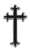 EMBROIDERED PATCH - CROSS