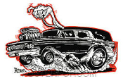 KRUSE STICKER - HOT ROD HEARSE