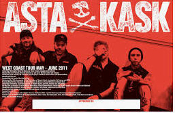 ASTA KASK - WEST COAST TOUR POSTER