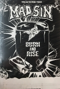 MAD SIN - BURN AND RISE POSTER